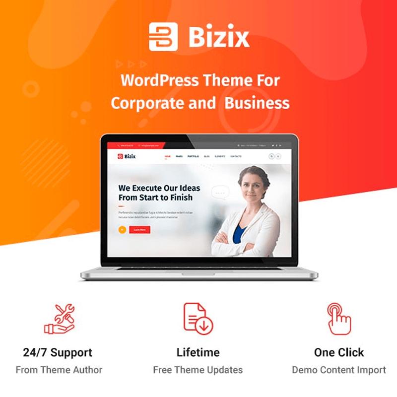 Bizix - Corporate and Business WordPress Theme
