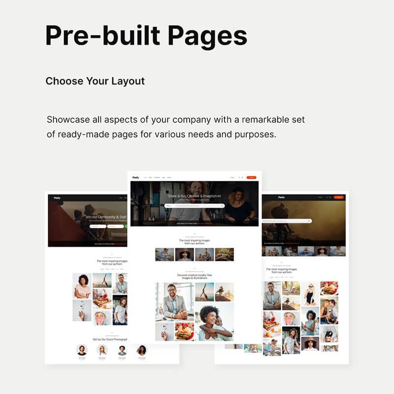 Pixefy | Stock Photography Marketplace Theme + WCFM Plugin